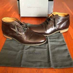 John Varvatos Collection Lace Up Chukka Boots.